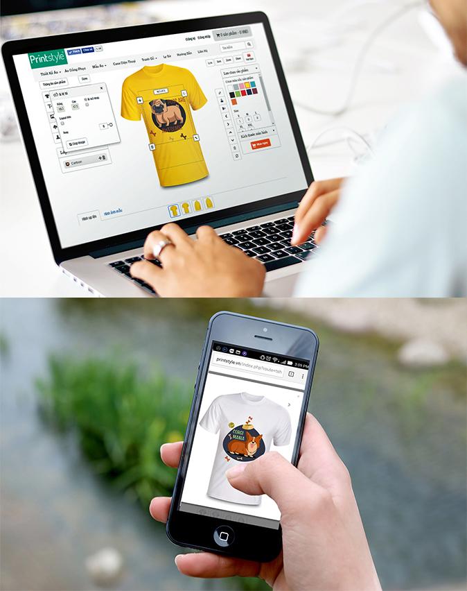 Thiết kế áo online Printstyle